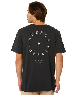 VINTAGE BLACK MENS CLOTHING AFENDS TEES - M191004VNBLK