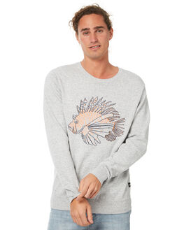 GREY MELANGE MENS CLOTHING BARNEY COOLS KNITS + CARDIGANS - 410-MC2GMLN