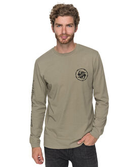 COVERT GREEN MENS CLOTHING QUIKSILVER TEES - EQYZT04757TNF0