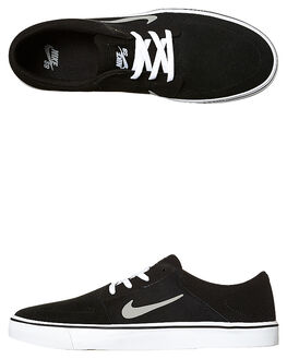 BLACK GREY WHITE WOMENS FOOTWEAR NIKE SKATE SHOES - SS725027-012W