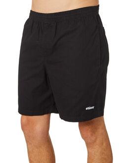 BLACK MENS CLOTHING STUSSY BOARDSHORTS - ST082600BLK