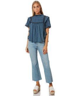 BLUE WOMENS CLOTHING FREE PEOPLE FASHION TOPS - OB10758804405