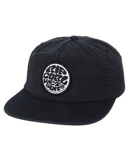 WASHED BLACK MENS ACCESSORIES RIP CURL HEADWEAR - CCAOL18264