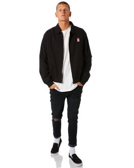 BLACK MENS CLOTHING THRILLS JACKETS - TW8-207BBLK