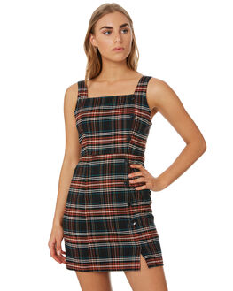 PLAID WOMENS CLOTHING VOLCOM DRESSES - B1341909PLD