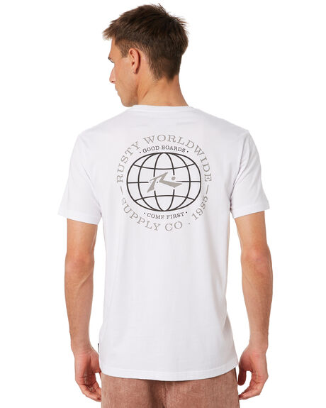 WHITE MENS CLOTHING RUSTY TEES - TTM2360WHT
