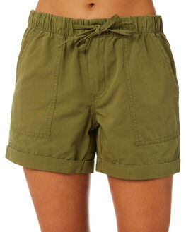 WASHED KHAKI OUTLET WOMENS SWELL SHORTS - S8202236WKHA