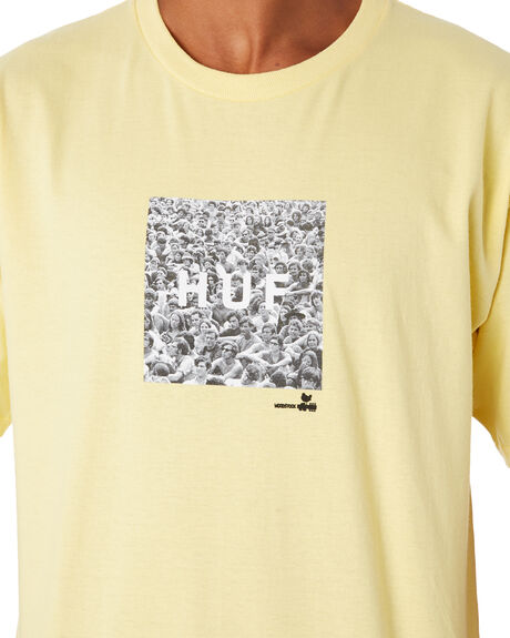 YELLOW OUTLET MENS HUF TEES - TS00981YELLW