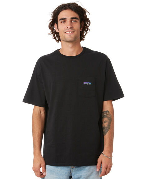 BLACK MENS CLOTHING PATAGONIA TEES - 37406BLK