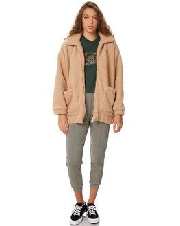 TAN WOMENS CLOTHING STUSSY JACKETS - ST186706TAN