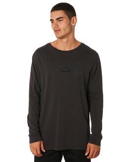 BLACK MENS CLOTHING RVCA TEES - R193091BLK