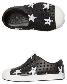 JIFFY BLACK WHITE KIDS TODDLER BOYS NATIVE FOOTWEAR - 13100101-8500