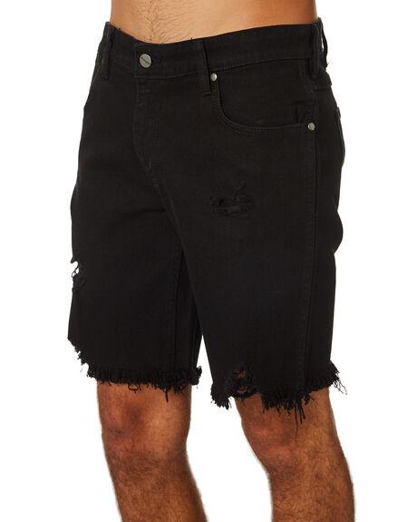 WHIPLASH BLACK MENS CLOTHING WRANGLER SHORTS - W-901486-KS4WHBLK