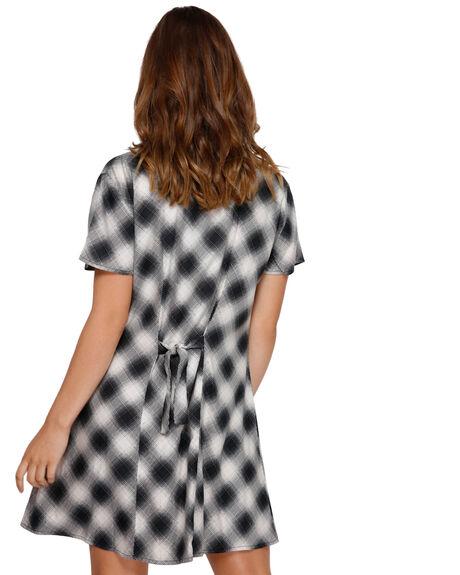 BLACK WOMENS CLOTHING RVCA DRESSES - RV-R291759-BLK