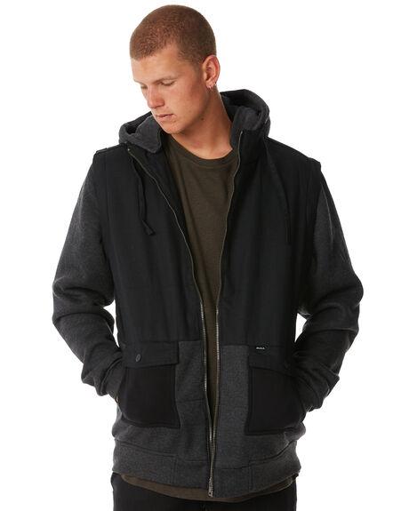 BLACK MENS CLOTHING RVCA JACKETS - R183436BLK