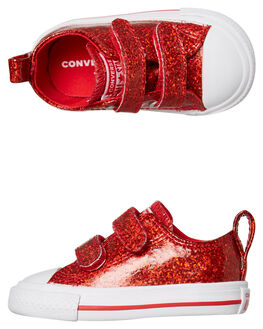 CHERRY RED KIDS GIRLS CONVERSE FOOTWEAR - 762345CRED