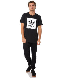 BLACK BLACK MENS CLOTHING ADIDAS ORIGINALS TEES - CW2339BLK