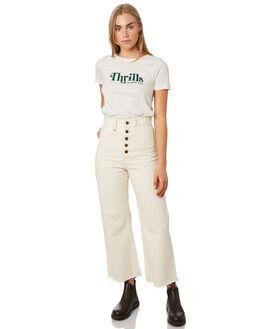 DIRTY WHITE WOMENS CLOTHING THRILLS TEES - WTA20-112ADWHT