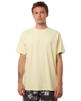 WASHED YELLOW OUTLET MENS NO NEWS TEES - N5182005WSHYE