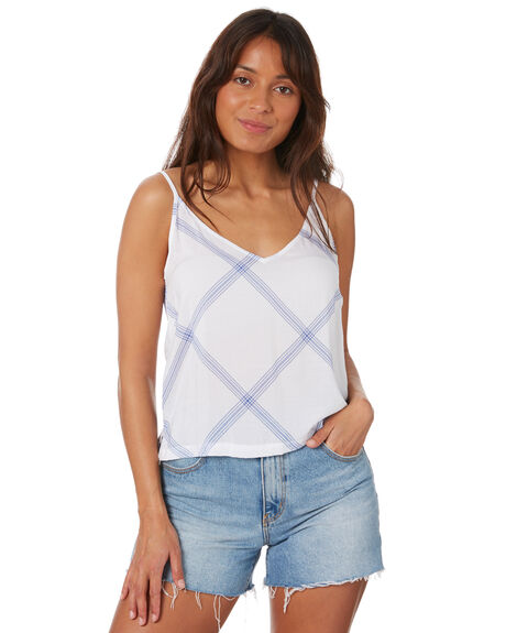WHITE OUTLET WOMENS RUSTY FASHION TOPS - SCL0345WHT