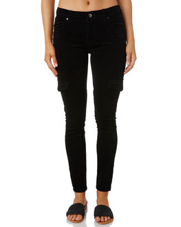 BLACK WOMENS CLOTHING RUSTY PANTS - PAL1107BLK