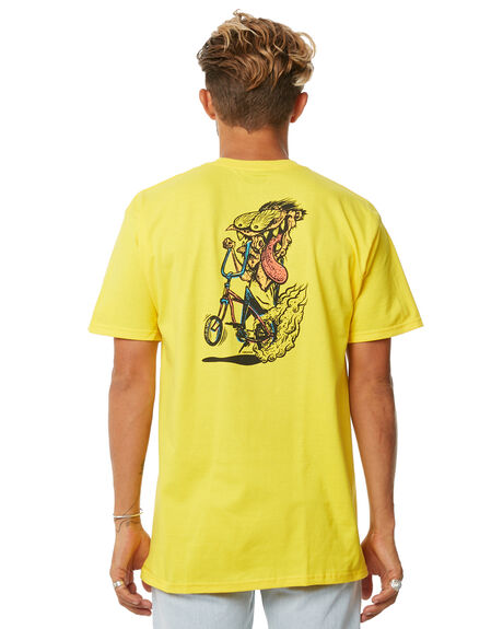 YELLOW OUTLET MENS BRIXTON TEES - 06838YELLW