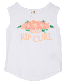 WHITE KIDS TODDLER GIRLS RIP CURL TOPS - FTEBQ11000