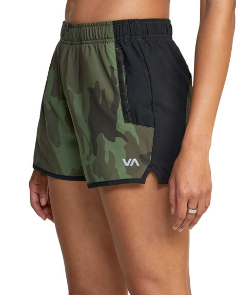 GRN CAMO II WOMENS CLOTHING RVCA SHORTS - RV-R417313-GCI
