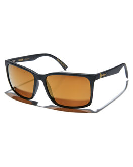 BLACK SATIN GOLD MENS ACCESSORIES VONZIPPER SUNGLASSES - SMPLESPDCBLKSG