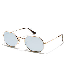 GOLD GREY MENS ACCESSORIES RAY-BAN SUNGLASSES - 0RB3556N00130