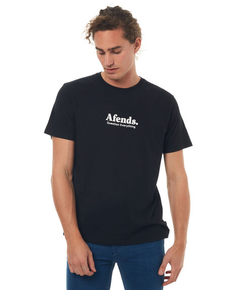 BLACK MENS CLOTHING AFENDS TEES - 01-01-332BLK