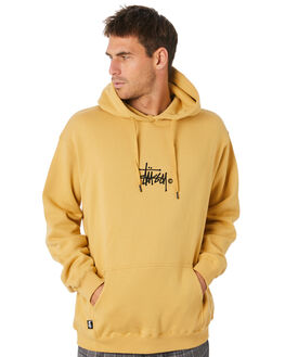 OCHRE YELLOW MENS CLOTHING STUSSY JUMPERS - ST005203OCYLW