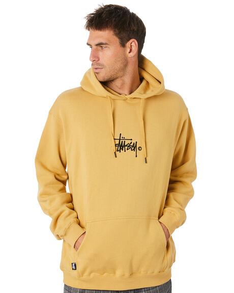 OCHRE YELLOW MENS CLOTHING STUSSY JUMPERS - ST005203OCYLW