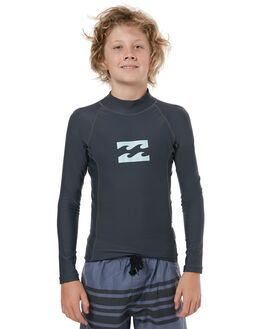 CHARCOAL SURF RASHVESTS BILLABONG BOYS - 8771013CHAR