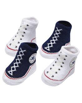 NAVY KIDS BABY CONVERSE FOOTWEAR - RCNV001NVY
