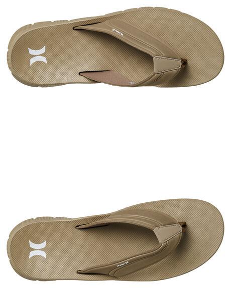 KHAKI MENS FOOTWEAR HURLEY THONGS - 92478235