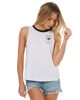 WHITE WOMENS CLOTHING RIP CURL SINGLETS - GTERN11000