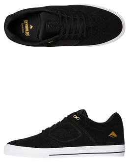 BLACK WHITE MENS FOOTWEAR EMERICA SKATE SHOES - 6102000122715