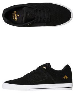 BLACK WHITE MENS FOOTWEAR EMERICA SKATE SHOES - 6102000122715
