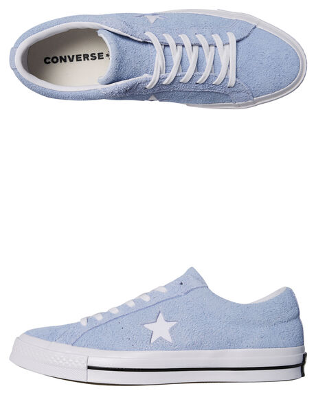 560be28f4d61 Converse Womens One Star Suede Shoe - Blue Chill