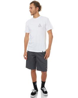 WHITE MENS CLOTHING HUF TEES - TSBSC1114WHT