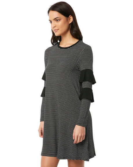 BLACK WHITE WOMENS CLOTHING BETTY BASICS DRESSES - BB503BLKWH