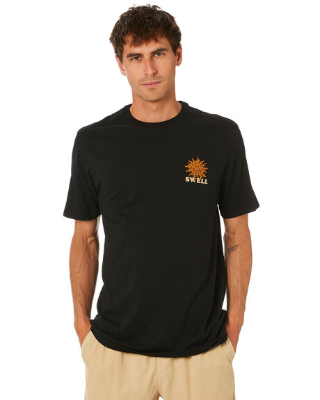 BLACK MENS CLOTHING SWELL TEES - S5212006BLACK