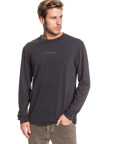 BLACK MENS CLOTHING QUIKSILVER TEES - EQYZT05429-KVJ0