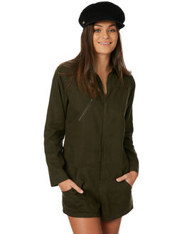 OLIVE WOMENS CLOTHING AFENDS PLAYSUITS + OVERALLS - W182850OLI