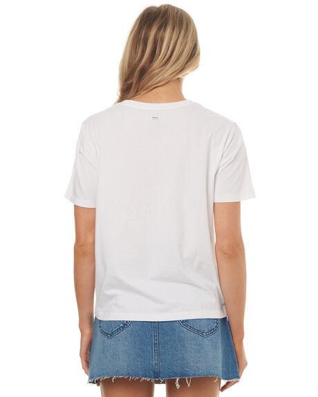 WHITE WOMENS CLOTHING RVCA TEES - R271684WHT