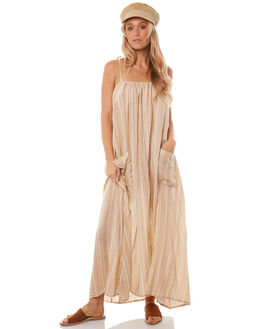 ALMOND CREAM WOMENS CLOTHING SAINT HELENA DRESSES - SH17HS400ALM