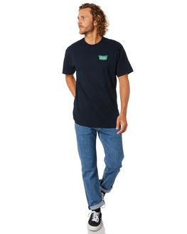 NAVY GREEN MENS CLOTHING BRIXTON TEES - 06560NVGRN