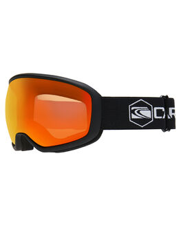 MATT BLACK ORANGE BOARDSPORTS SNOW CARVE GOGGLES - 6026MBLKO