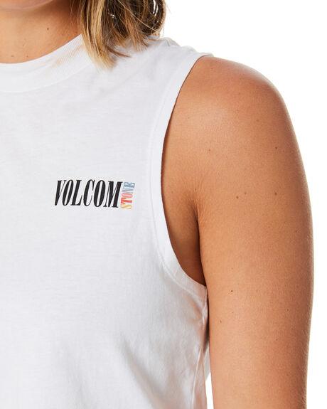 WHITE OUTLET WOMENS VOLCOM SINGLETS - B3541976WHT